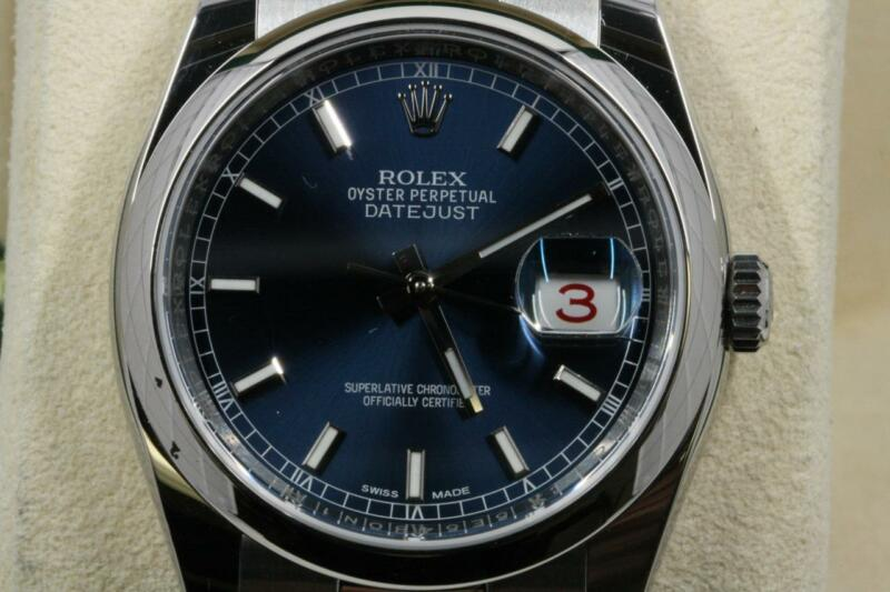 Rolex Datejust 116200 Blue Index Dial 2017 Model Unused