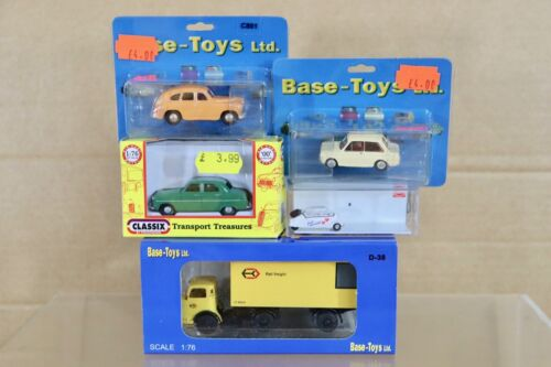 BASE-TOYS CLASSIX BUSH OO SCALE VOLVO HILLMAN FORD MESSERSCHMITT & KARRIER LORRY