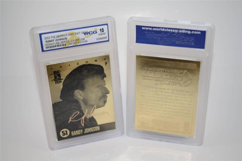 BOGO * RANDY JOHNSON 2003 Laser Line Gold Card Limited Graded GEM MINT 10