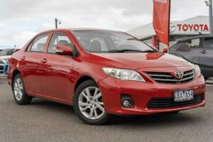 2012 Toyota Corolla ZRE152R MY11 Ascent Sport Red 4 Speed Automatic Sedan Dandenong Greater Dandenong Preview