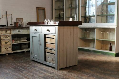 Old Irish Shop Counter/Kitchen island/Butchers Block Vintage Salvage Reclaimed