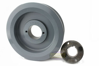 Cast Iron 6.5 2 Groove Dual Belt B Section 5l Pulley W 1-18sheave Bushing