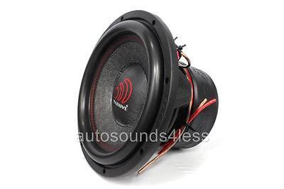 "Massive Audio SUMMO 124 3000 Watt 12"" Dual 4 Ohm Car Audio Subwoofer New"