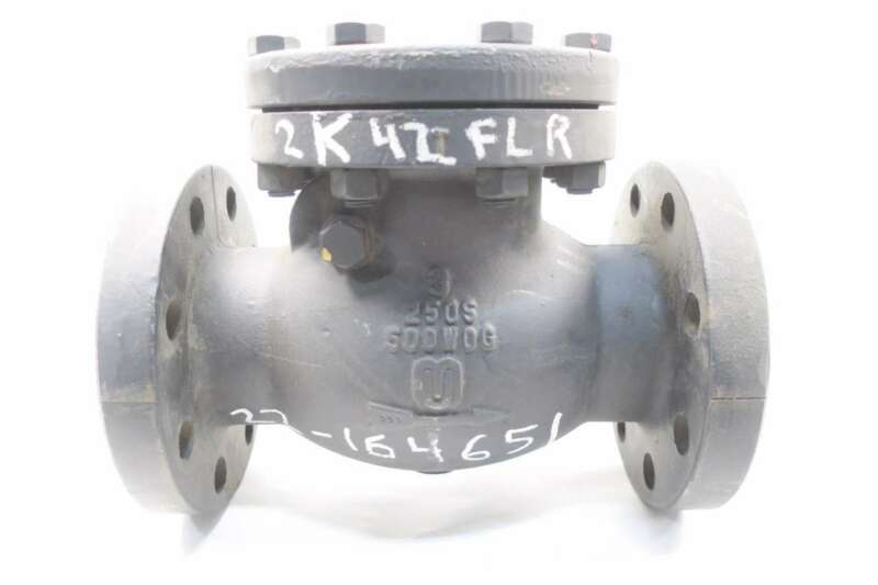 Milwaukee F2970 3 In Iron Flanged Swing Gate Check Valve