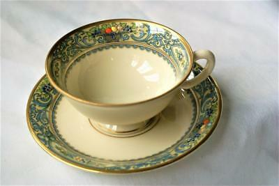 Lenox Autumn Ivory China  / Gold Banded Mark  /  Cup & Saucer ()