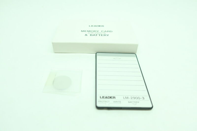 Leader LM-2900-3 Memory Card And Battery
