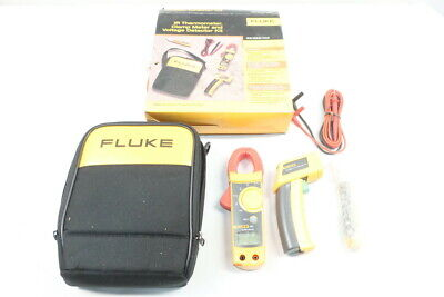 Fluke 623221ac Ir Thermometer Clamp Meter And Voltage Detector Kit