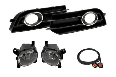 Genuine Kufatec Fog Light+Grille + Cable Loom Set for Audi A1 8x