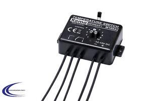 Kemo M169A Temperaturschalter 12 V Thermostat - Ideal für KFZ Lüftersteuerung