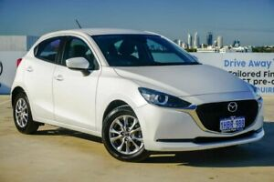 2020 Mazda 2 DJ2HAA G15 SKYACTIV-Drive Pure Snowflake White Pearl 6 Speed Sports Automatic Hatchback