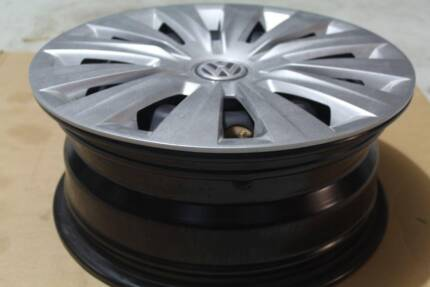 3 Set Original Steel Wheel with Cap Volkswagen Golf 7 (2014)