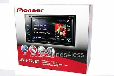 "NEW Pioneer Double 2 Din AVH-270BT DVD/MP3/CD Player 6.2"" Touchscreen Bluetooth on Rummage"