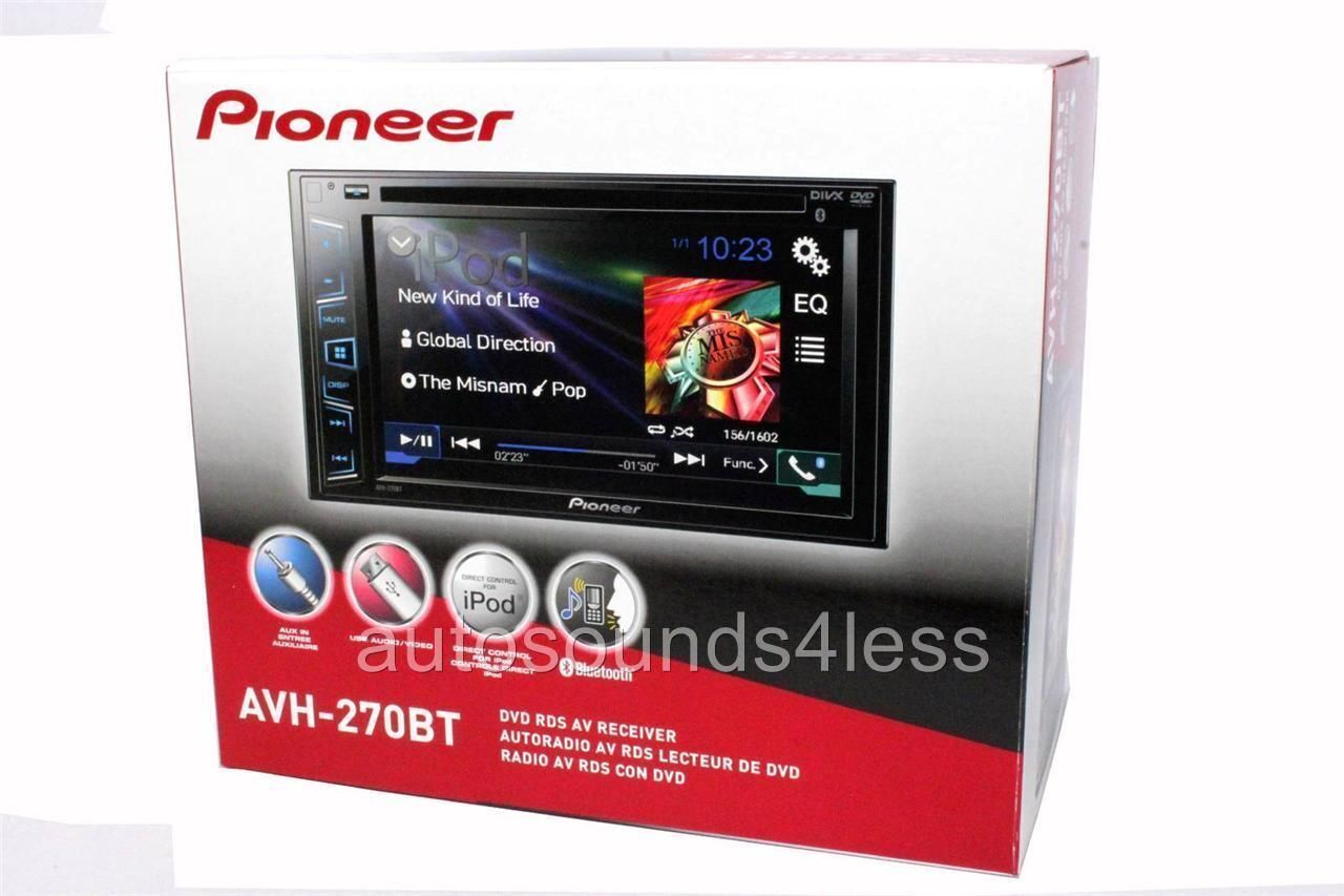 new pioneer double 2 din avh 270bt dvd mp3 cd player 6 2. Black Bedroom Furniture Sets. Home Design Ideas