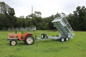 Ozzi 10x5 Galvanised Hydraulic Tipping Trailer Molendinar Gold Coast City Preview