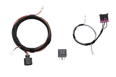 Original Kufatec Cable Loom + Relay Headlight Cleaner Sra for Audi A1 8X