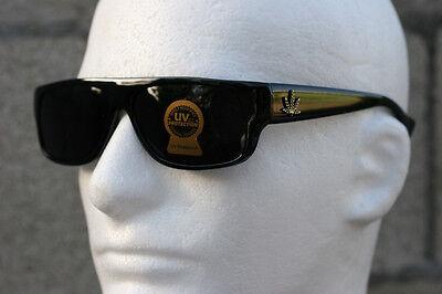 Extra Dark Locs Eazy E Ganster Sunglasses Cholo Rapper Motor-cycle Mad Dog (Black Ganster)