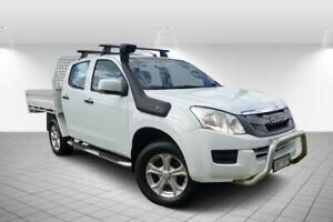 2014 Isuzu D-MAX TF MY12 SX (4x4) White 5 Speed Automatic Crew Cab Chassis