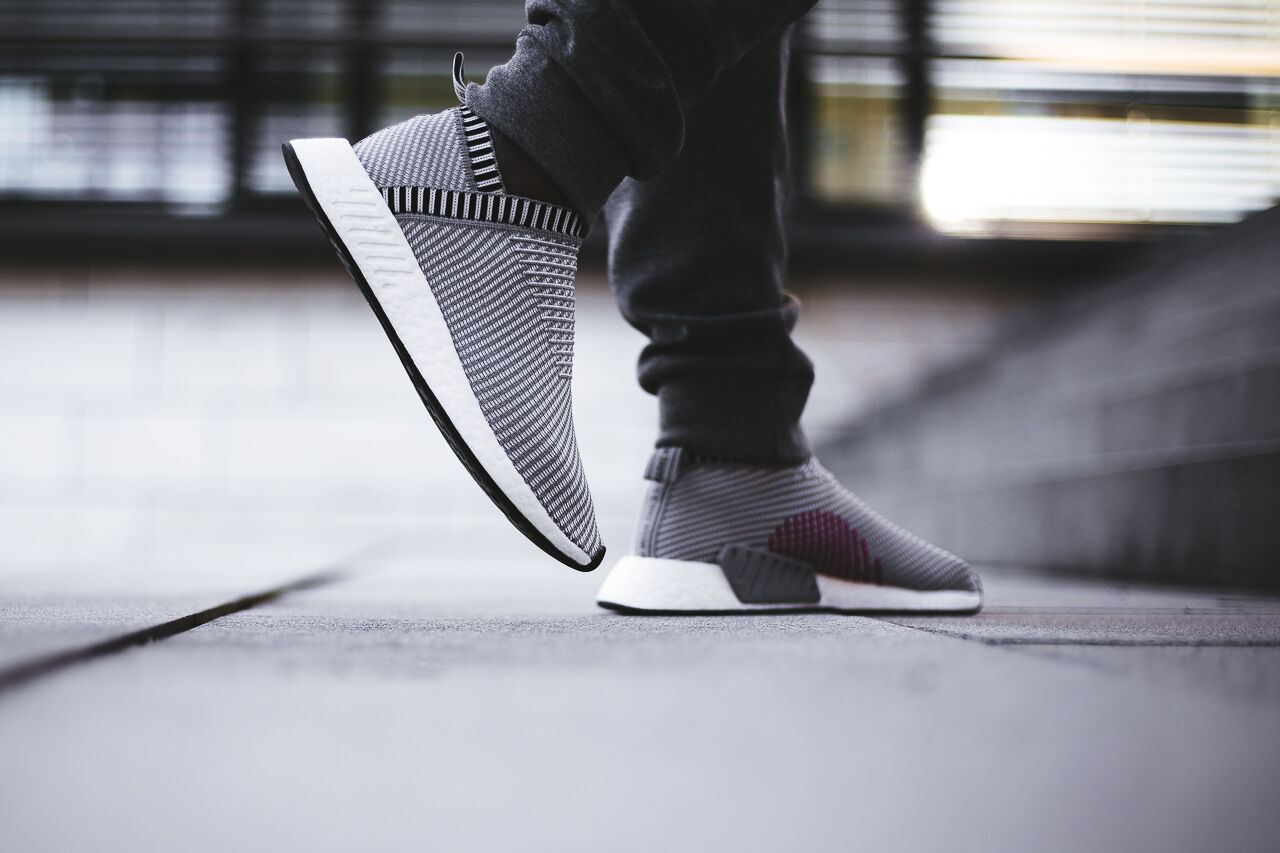 10d216d3ca4 Adidas NMD CS2 size 12. Grey White Pink. BA7187. city sock. primeknit
