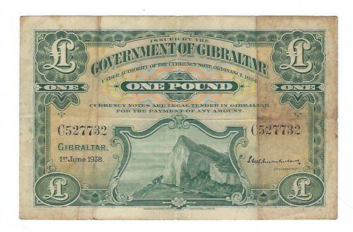 Gibraltar - One (1) Pound, 1938