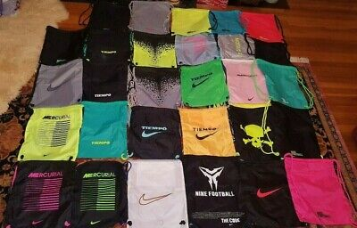 Nike Soccer Futbol Drawstring Carry Bag Shoes Cleats Football All Colors U -
