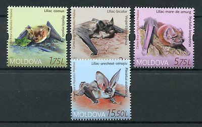 Moldova 2017 MNH Endangered Bats Red Book 4v Set Wild Animals Stamps