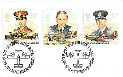 1986 GB First Day Cover ROYAL AIR FORCE - COMMEMORATIVE 16th September 1986