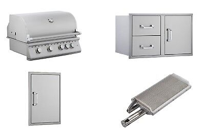 DIY BBQ Grill Package Outdoor Kitchen Island- Bundled for Best (Best Outdoor Kitchen Grills)