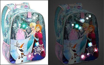 Disney Store Frozen Elsa Anna Olaf LED Light-Up School Backpack ...