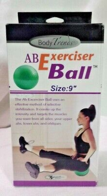 New AB Ball BodyTrends Mini AB Exerciser Ball Green 9 inch Bonus Air Pump