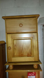 Julian Bowen antique pine bedside cabinet