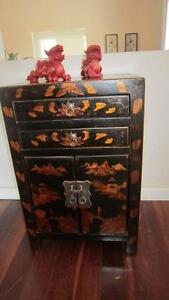 Delightful vintage Chinese cabinet / bedside table, reduced Woodlands Stirling Area Preview