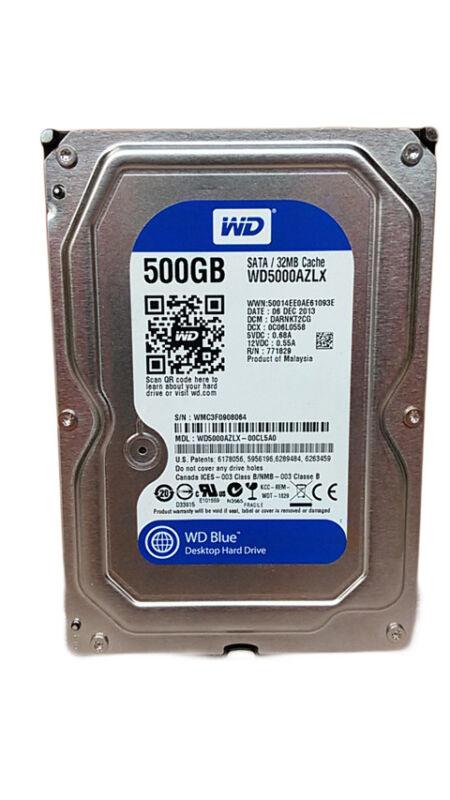 """Western Digital WD Blue WD5000AZLX 500GB 3.5"""" SATA III Desktop Hard Drive"""