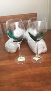 Stained glass wine glasses Maryland Newcastle Area Preview