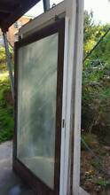 Silky oak sliding doors (2set) and matching fixed framr Highgate Hill Brisbane South West Preview