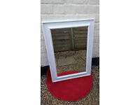 "MIRROR PAINTED IN FARROW & BALL ""SKIMMING STONE"" OFF WHITE – 80 X 57.5CM - £15"