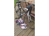 Ribble Carbon road bike size xs with extras used only twice so in like new condition