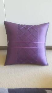 Silk Cushions (x2) Aubergine Colour! Near New! 39cm x 39cm East Perth Perth City Area Preview