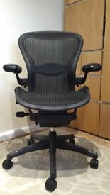 Herman Miller Aeron Chair - Size B - Fully Loaded