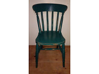 GREEN SHABBY CHIC CHAIR – W38 X D40 X H85CM (47CM FLOOR TO SEAT) – £5