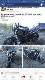 Kawasaki GPZ500s sale or swap bigger engine or cruiser