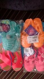 Joblot childrens jelly shoes