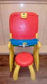 Childrens crayola blackboard/drawing table with stool