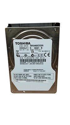 "Toshiba  MK6465GSXN HDD2J11 640GB 2.5"" SATA II Laptop Hard Drive for sale  Shipping to Nigeria"