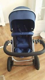 Mint condition iSafe pram. carry cot car seat and rain covers for both.