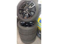 Dezent TE Dark 18″ Alloy Wheels and part worn tyres size 245 45 18 fit VW T5