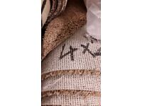 high quality carpet Saxony suede brand new hessian backed high standard may deliver 4m x 2.55m