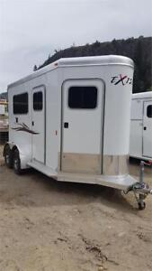 """2017 Exiss 2 Horse Straight Load Trailer 7' 8"""" Tall inside"""