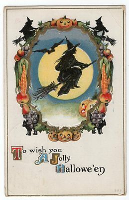 HALLOWEEN POSTCARD PUBLISHED H.I.R. SERIES #383 POSTALLY USED OCTOBER 30th, 1912