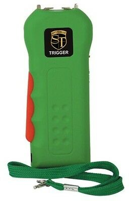 18 Million Volt Rechargeable GREEN POLICE Defense Hand Stun Gun w/ tazer HOLSTER