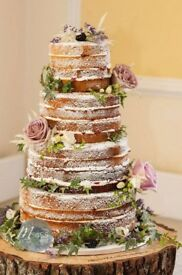 Rustic wedding wood slice
